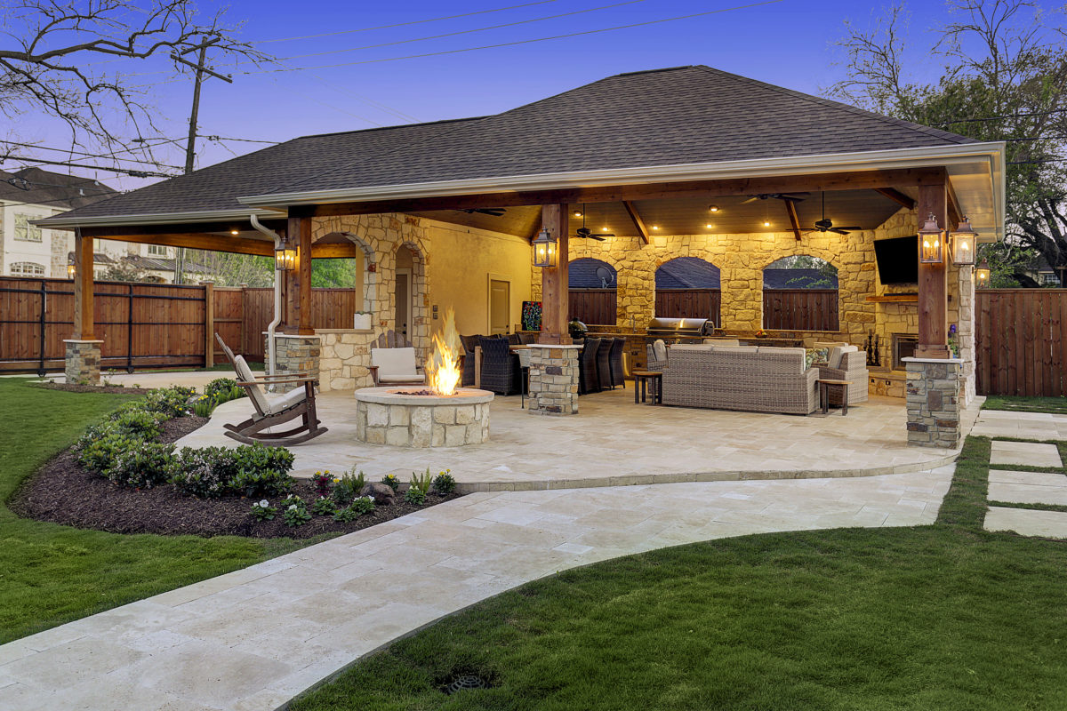 Expanded Outdoor Living Area in Houston - Texas Custom Patios on Living Patio id=58136