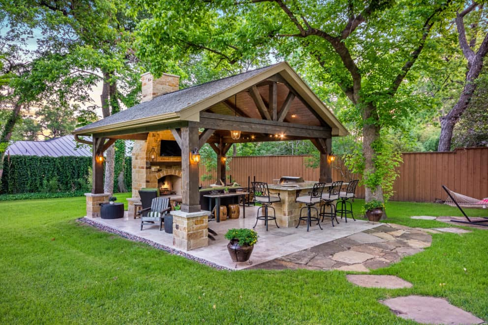 Outdoor Fireplaces, Fire Pits, Houston, Dallas, Katy ... on Covered Outdoor Kitchen With Fireplace id=44679