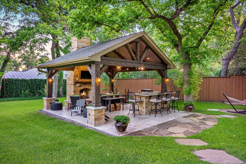 Outdoor Retreat in North Dallas - Texas Custom Patios on Backyard Patio  id=19096