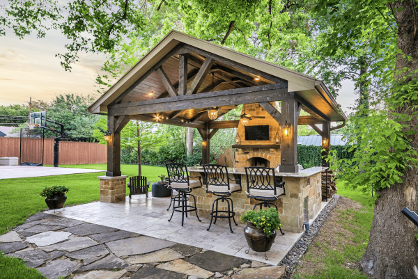 covered outdoor living patio Project of the Month: September 2017 - Texas Custom Patios