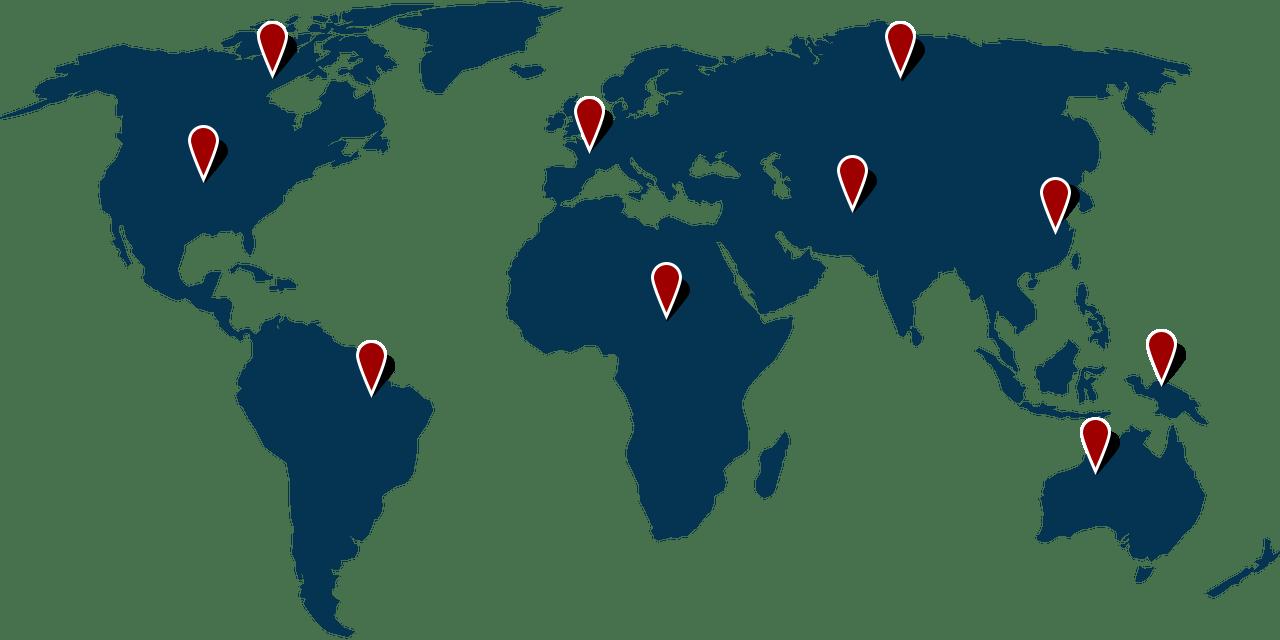 We provide service across the globe.