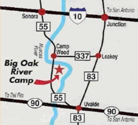 Big Oak River Camp Map