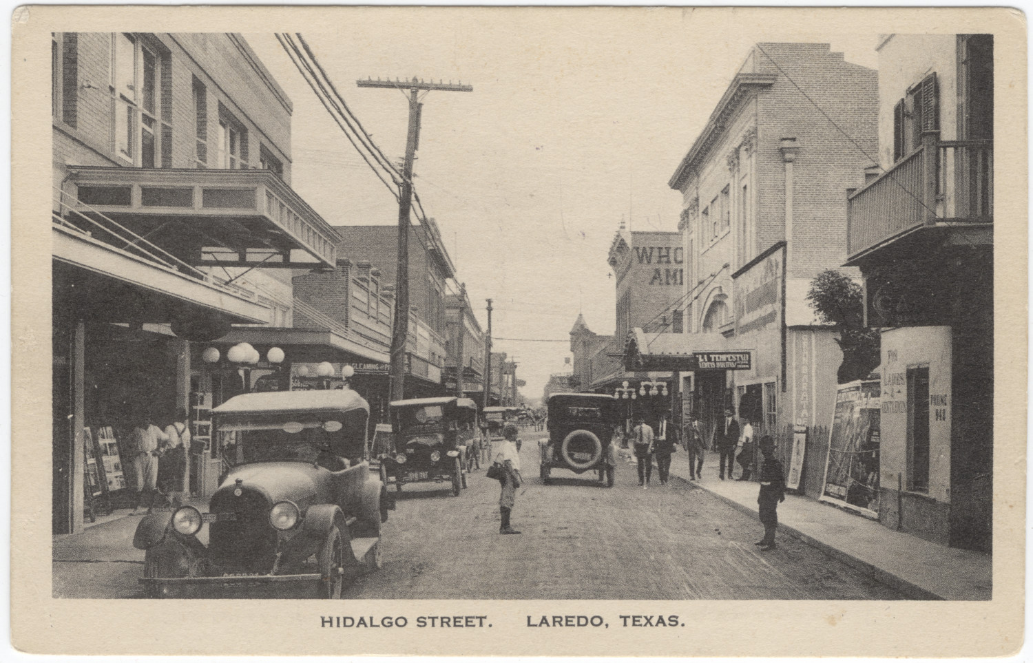 Hidalgo Street Laredo Texas The Portal To Texas History