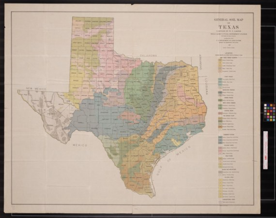 General soil map of Texas   The Portal to Texas History DescriptionBookmark this section  Map displays principle soil series groups  in regions of Texas