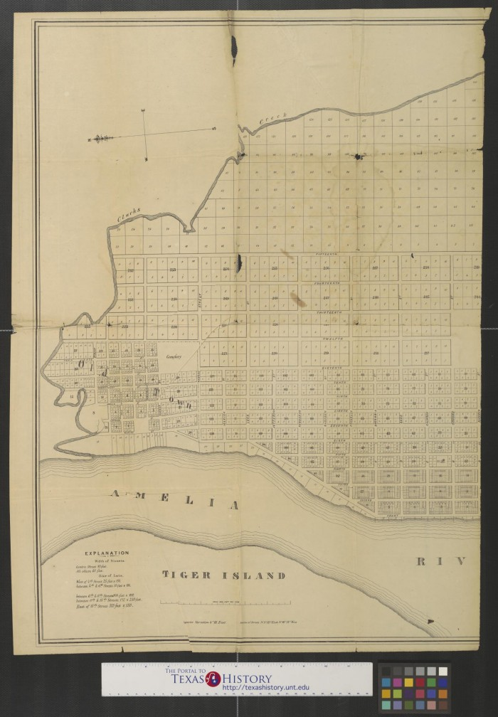 Map of Fernandina  Amelia Island  Florida  1857  Sheet 1     The     Primary view of object titled  Map of Fernandina  Amelia Island  Florida   1857