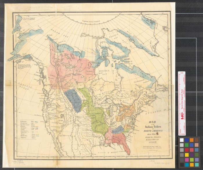 Map of the Indian tribes of North America  about 1600 A D  along the     Map of the Indian tribes of North America  about 1600 A D  along the  Atlantic    about 1800 A D  westwardly