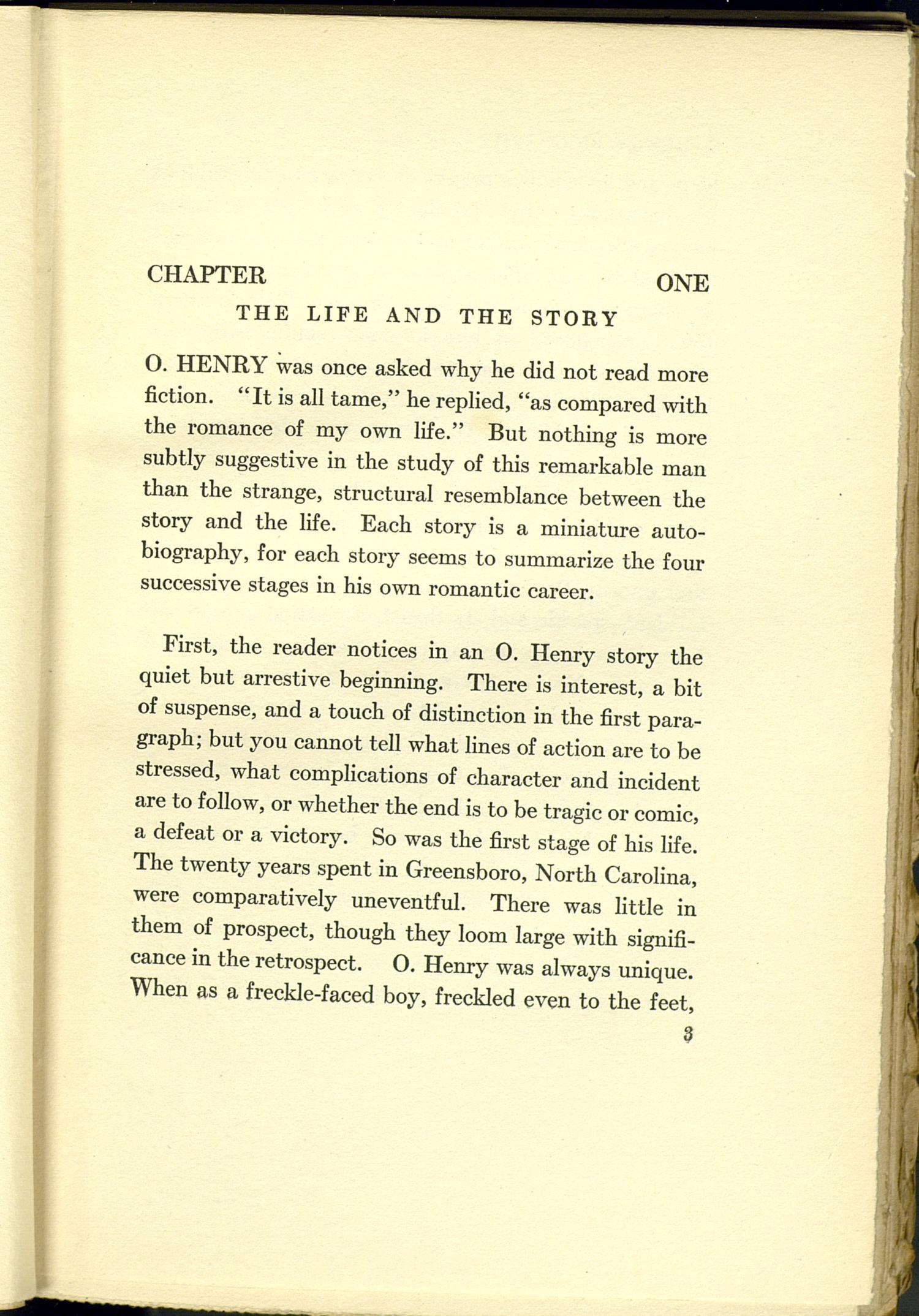 O Henry Biography