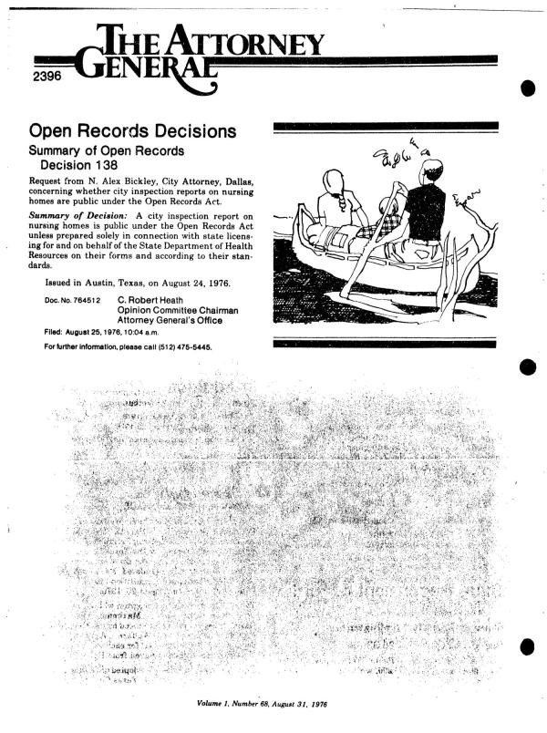 Texas Register, Volume 1, Number 68, Pages 2393-2438 ...