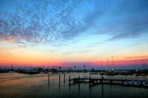 sunset view of Corpus Christi Bay