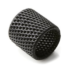 Artesia Black Napkin Ring
