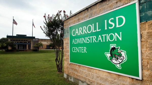 The Carroll ISD Administration Center in Southlake is pictured here. The school district was named the second best in the state in a ranking from Niche, a website that analyzes school performance data. (Tom Fox/Staff Photographer)