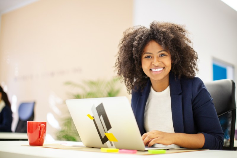 Smiling professional woman