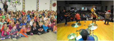 Live music in the schools for elementary and middle school