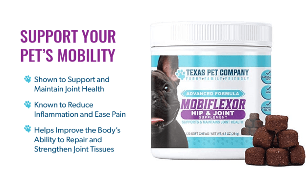 Texas Pet Company Mobiflexor Hip & Joint Soft Chews Dog Glucosamine