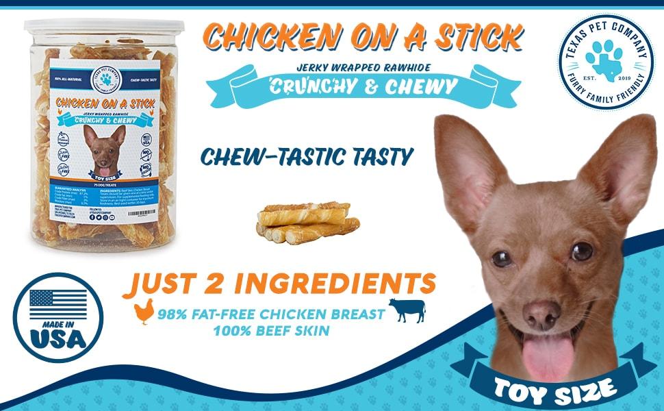 Chicken On A Stick Toy Dog Treats Standard Image Header