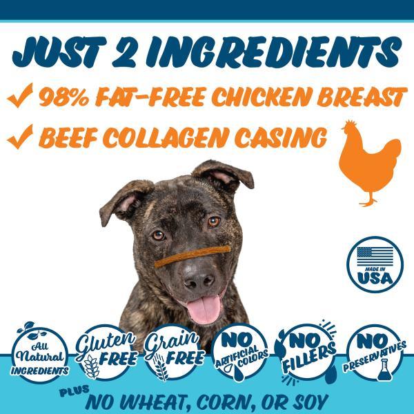 Texas Pet Company Chicken Jerky Bars Slides Ingredients 1500x1500