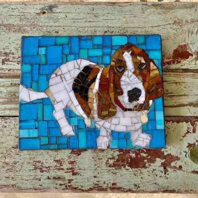 DeniseMosaics-Pet Portraits Dog Texas Pet Co Gallery 3 - Duke Keller