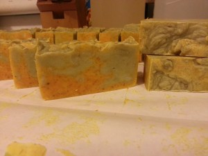 Side and top view of Fruit Smoothie soap