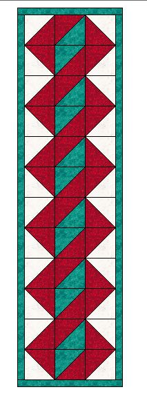 Twisted Pole  table runner pattern