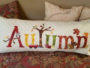 Autumn bench pillow