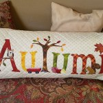 Autumn bench pillow