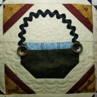 finished quilting the blocks