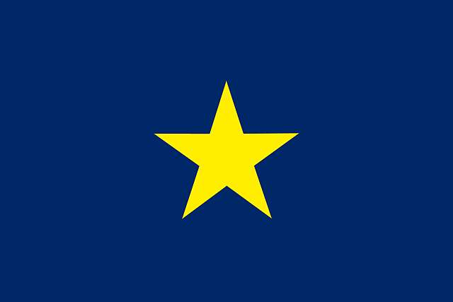 Texas republic nation Burnett Flag