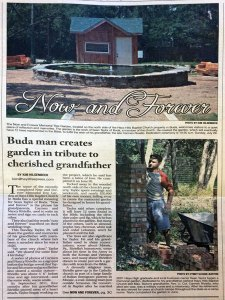 Sean Taylor builds Now and Forever Garden