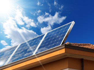 solar panels on a residential roof
