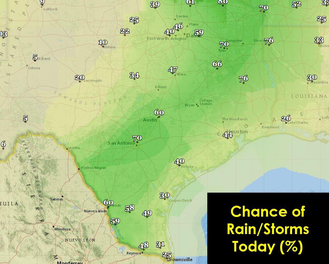 June 18 Texas Weather Roundup Amp Forecast More Rain