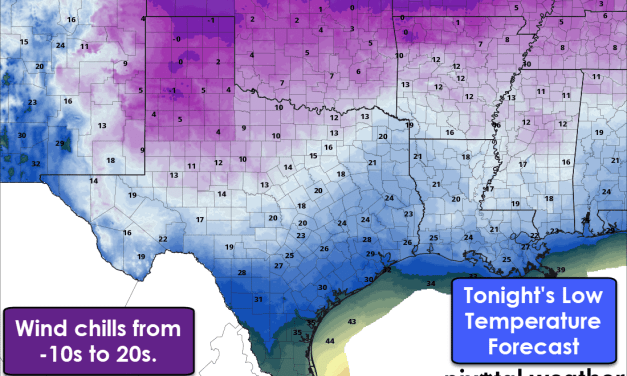 Arctic Chill Sticking Around through Tuesday; Very Cold Wind Chills!