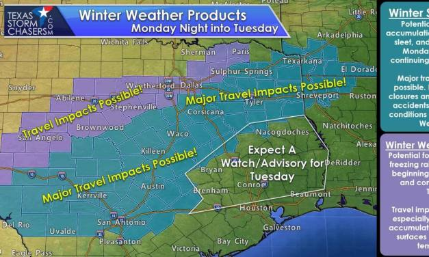 Winter Storm Watches Issued from Hill Country into Northeast Texas