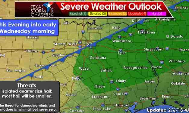 Rain Chances Increasing Today into Wednesday; Marginal Severe Weather & Winter Weather Threats