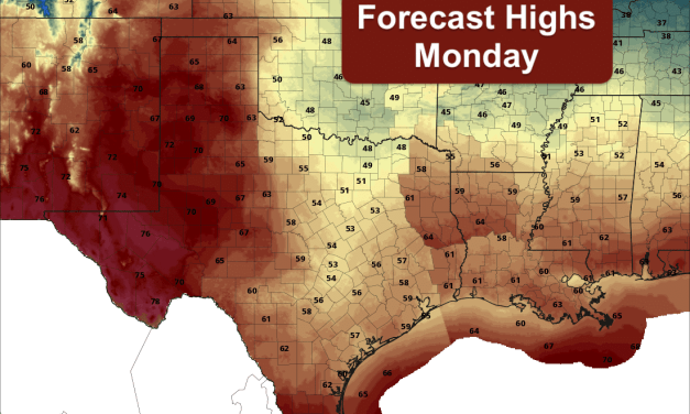 Roller Coaster Temps This Week With Two Cold Fronts Expected – Rain Chances Return on Tuesday