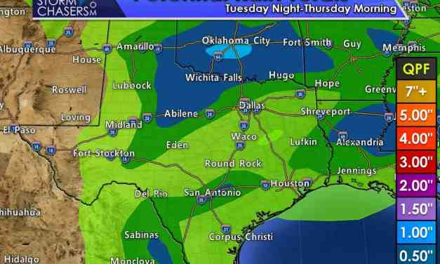 Next Round of Rain & Storms Begins Tuesday Evening and expands on Wednesday