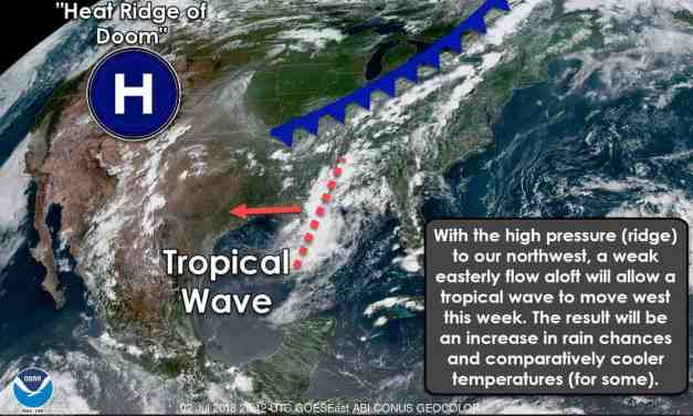 Stormy Independence Day Forecast for Southeast Half of Texas