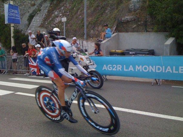 Dave Zabriskie tearing up the TT course