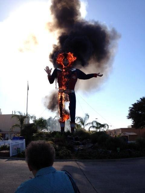 Big Tex burning up