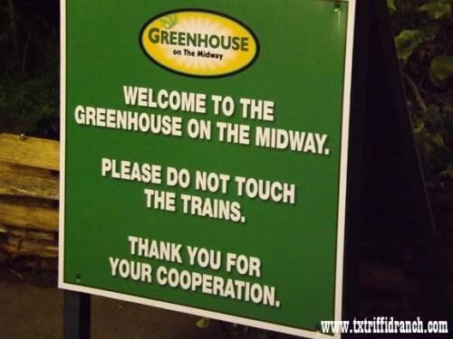 Greenhouse warning