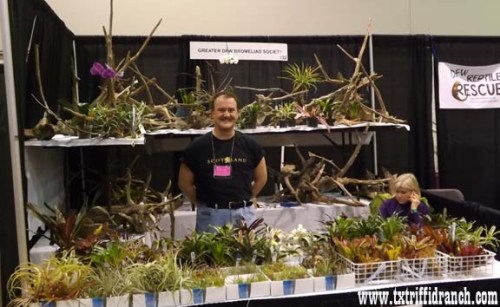 Shawn Crofford of the Bromeliad Society