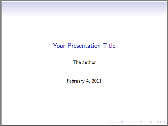 Beamer An Introduction To Latex Presentations Texblog