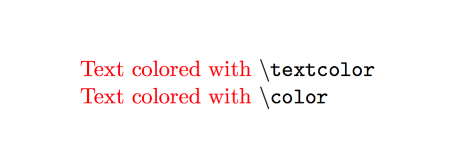 Using colors in a LaTeX document – texblog