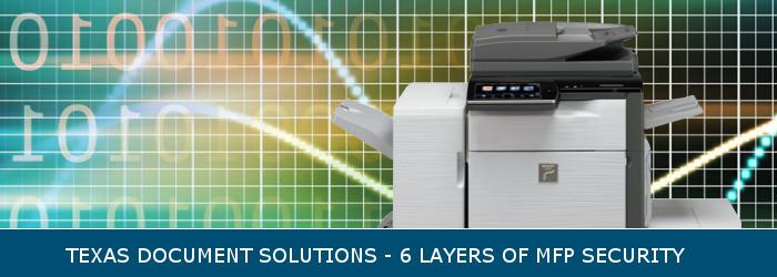 sharp copier network & document security