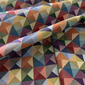 Tela Gobelino rombos multicolor pequeño
