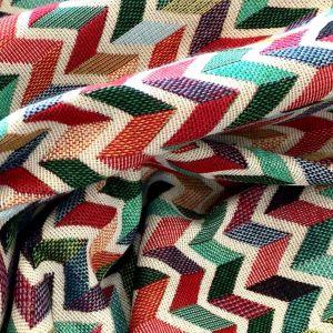 Tela Geometrico Zig Zag Multicolor