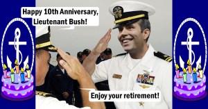 Bush Camp Falsely Claims George P's Naval Retirement