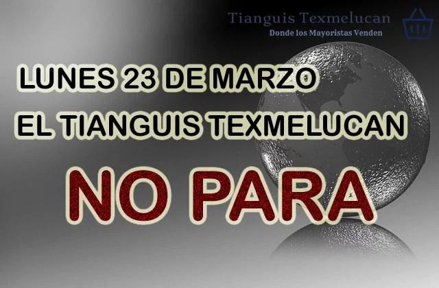 Lunes 23 de marzo de 2020 SI HAY TIANGUIS TEXMELUCAN