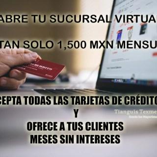 Abre tu sucursal virtual por tan solo 1,500 mensuales