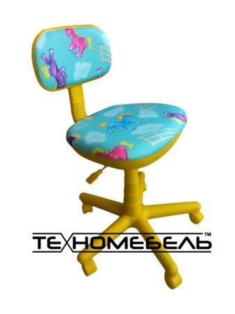 Детское кресло желтое голубое