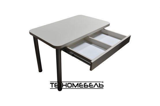 Кухонный стол с выдвижным ящиком бежевого цвета